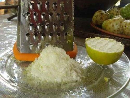 Função do limão congelado ralado