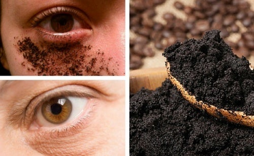 Creme natural de café para o contorno dos olhos