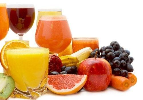 Melhores sucos: pera e uva