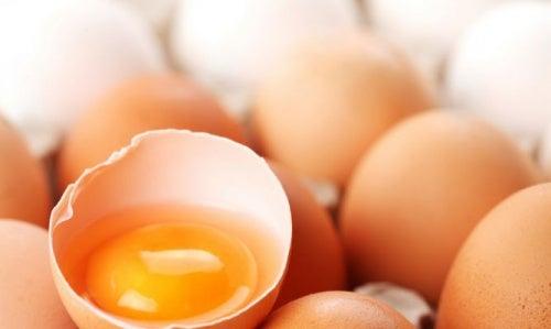 Condicionador natural de gema de ovo