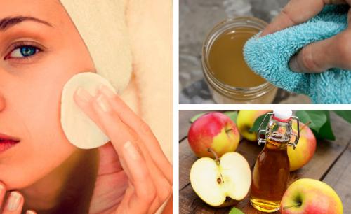 Benefícios de usar o vinagre de maçã para lavar o rosto