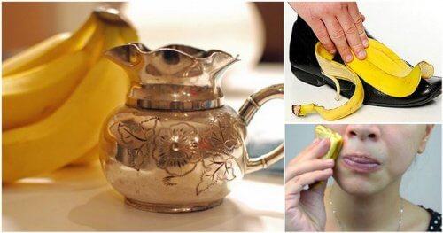 10 usos alternativos da casca de banana