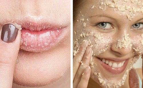 Aprenda a preparar um esfoliante natural para o rosto e os lábios