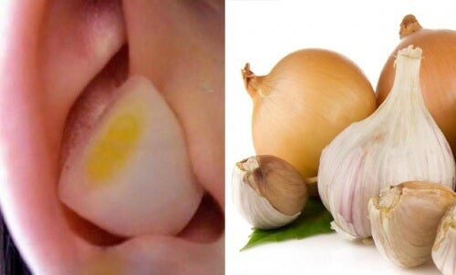 Por que é benéfico colocar um pedaço de alho ou cebola no ouvido?
