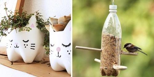 Formas criativas de reutilizar garrafas plásticas