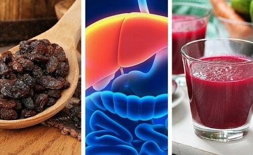 Remédio de beterraba e uva passa para limpar o fígado