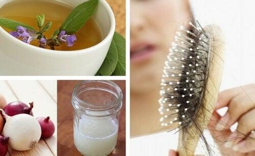 Os 5 melhores remédios caseiros para controlar a queda dos cabelos