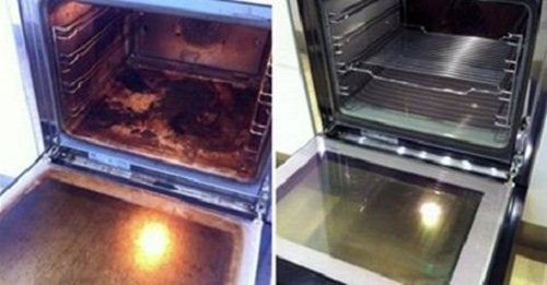 Sal para limpar sujeira no forno