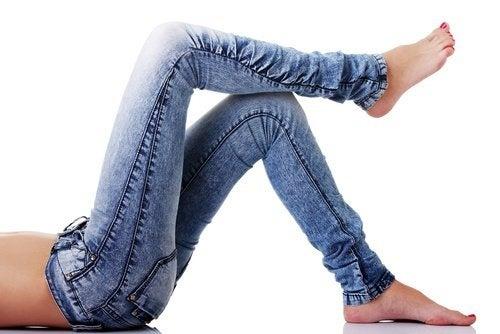 Usar jeans apertado