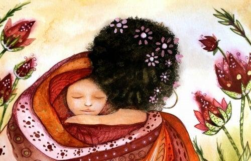 Mãe com bebê no colo representando a melhor idade
