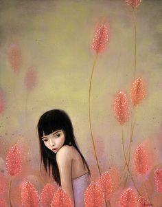 Mulher-entre-flores