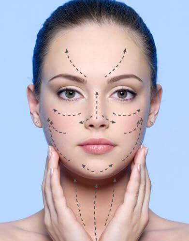 Loção antirrugas para o rosto