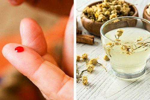 Bebida de camomila e canela para controlar os níveis de açúcar no sangue