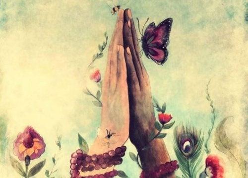 Maos-e-borboleta
