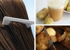 Casca de batata para fortalecer o cabelo