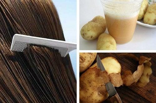 Você sabia que a água da casca de batata pode ajudar a fortalecer o cabelo?