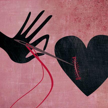 Coração remendado depois de sofrer por quem o machucou