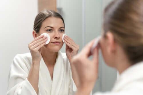 Limpeza facial com vinagre de maçã