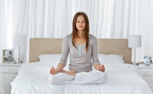 meditação anti-estresse antes de dormir