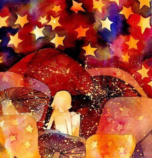 menina-olhando-estrelas-desfrutando-a-vida