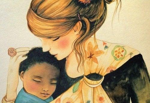 As crianças precisam dos seus abraços para se sentirem parte do mundo
