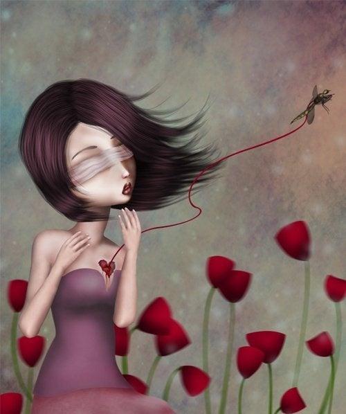 Mulher com o coração machucado