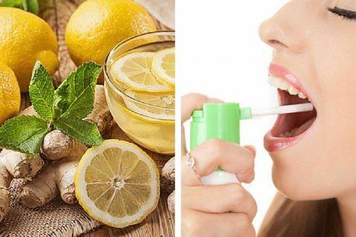 Faça um spray natural para a garganta