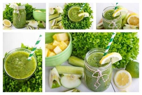 Vitamina relaxante de abacaxi, menta, maçã e limão