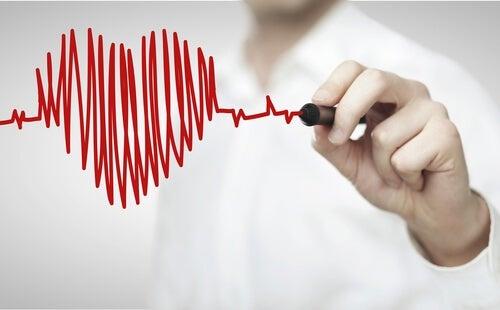 Desenho que simboliza problemas cardíacos