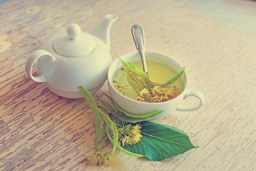 Chá de tilia para tratar gengivite