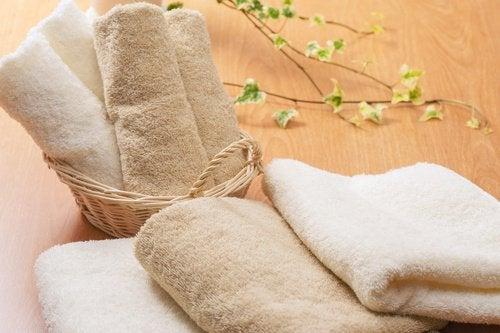 Toalhas lavadas e secas