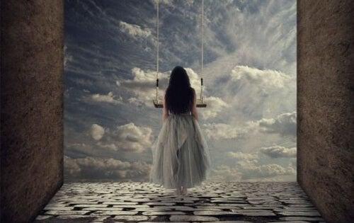Às vezes, quando alguém se aproxima do abismo, descobre que pode voar