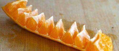 laranja descascar