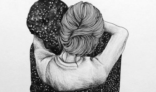Casal merecendo um abraço