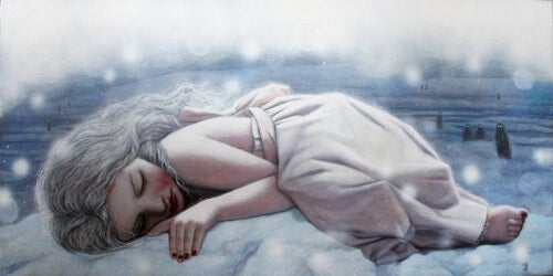 menina-dormindo-na-neve