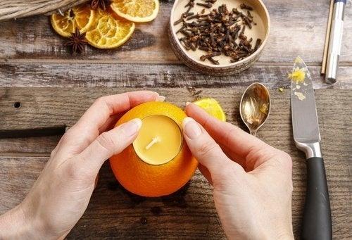 Aromatizante caseiro de laranja