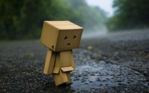 Bonequinho com depressão