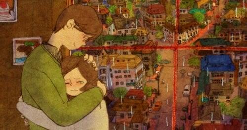 Homem e mulher se abraço