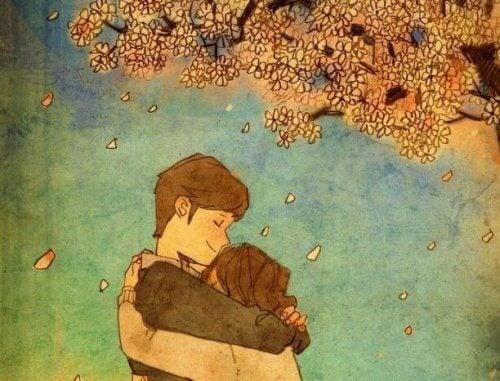 Não existe melhor calmante do que o abraço que afasta os medos