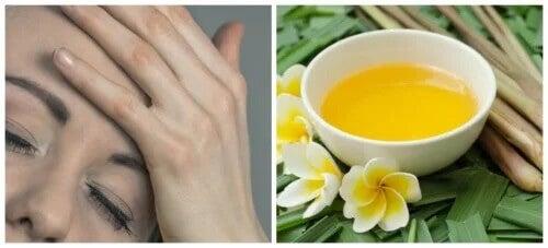 Chá de capim-limão para a dor de cabeça e as enxaquecas