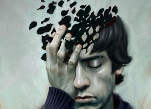 Homem triste e confuso