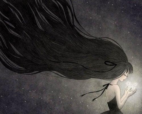 Mulher enfrentando a depressão