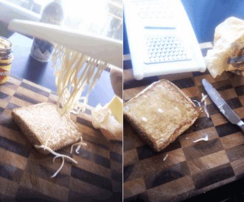Tarefa de ralar a manteiga
