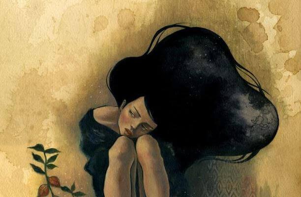Mulher com depressão