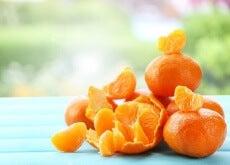 Máscaras faciais de tangerina