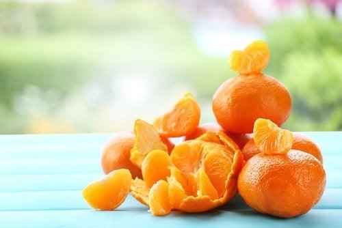 Máscara de tangerina para rejuvenescer a pele