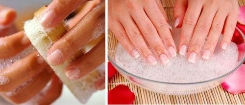 Limpar as unhas