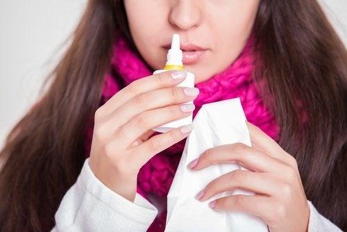 Tratar a congestão nasal com bicarbonato de sódio