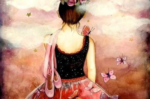 Bailarina com borboletas