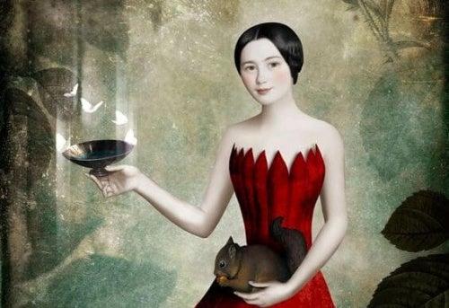 mulher-vestido-vermelho